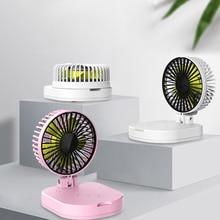 Folding Portable Silent Mini Fan Student Electric Chargeable Small Desktop Wireless Charging USB 10000Am  FAN-20