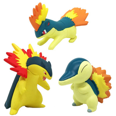 Original Cyndaquil Quilava Typhlosion anime cartoon action & toy figures Collection model toy KEN HU STORE pks