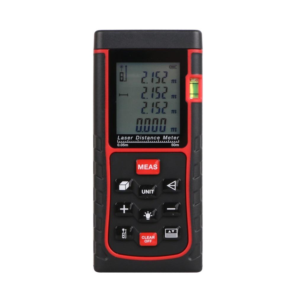 SNDWAY E50 Laser distance meter 50m 164ft Laser Rangefinder Tape Laser Range finder measure Distance/Area/Volume Tool