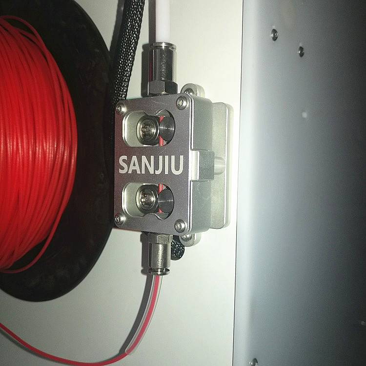 SANJIUPrinter Newest Feeder For UM2 Ultimaker 2+Extended Dual Wheel Aluminum Alloy Work Quiet and Stable Whole Price