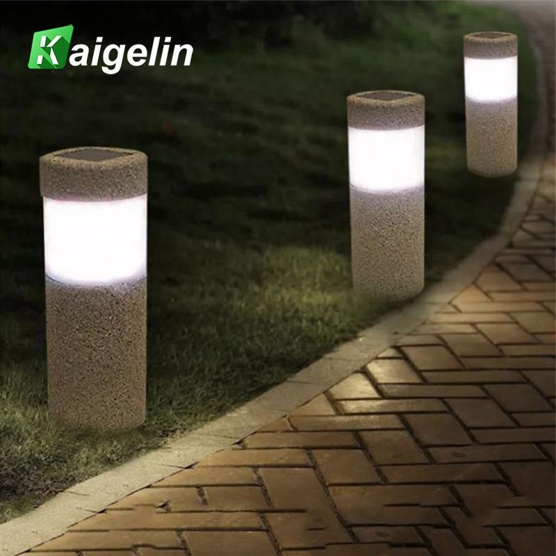 Sand-blasting Solar Powered LED Lawn Light Lighting Sensor Control Outdoor Waterproof LED Solar Path Light For Garden Decoration