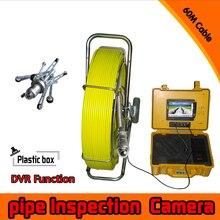 (1 set)60M Cable surveillance system Pipe Inspection Camera Underwater waterproof IP68 DVR function CCTV camera system pan tilt