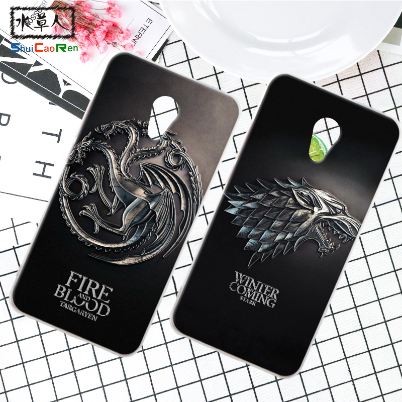 ShuiCaoRen Silicone Case For Meizu M3S Mini Retra Game of Thrones Cover Phone Coque Ice  ...
