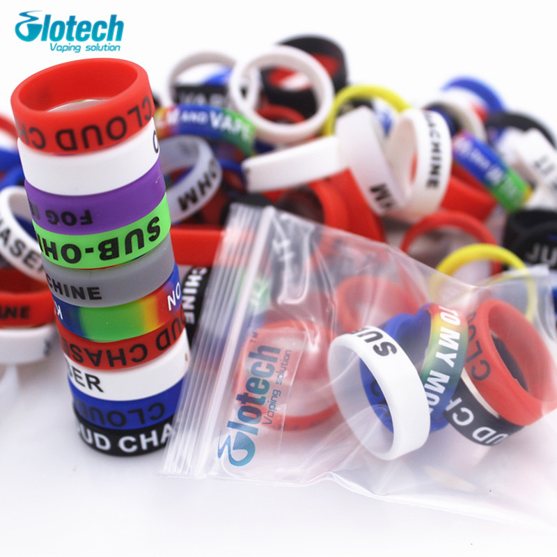 Glotech 5pcs/10pcs Silicone Rubber Vape Ring Decorative Band For Mechanical Mod 18650 22mm Mod Rda Rba Vaporizer DIY Atomizer
