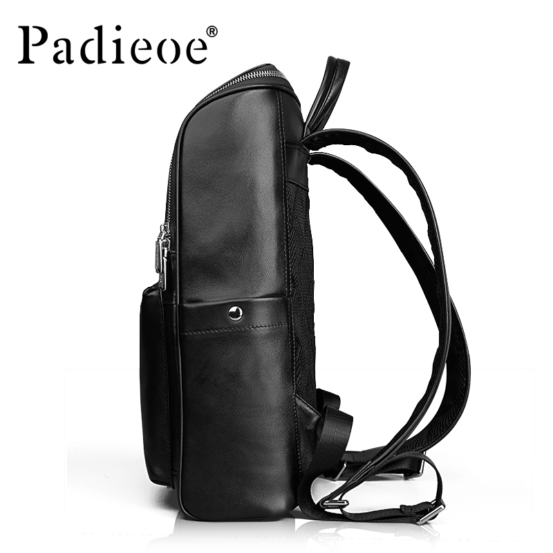 Padieoe New Design Genuine Leather Men Backpack Fashion Cowhide Business Casual  Backpacks Laptop Bag-in Backpacks from Luggage   Bags on Aliexpress.com ... 211e6f7842a60