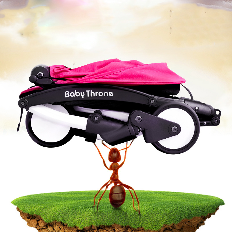 Russian exports Baby Stroller baby umbrella child car light carrying folding baby carriage can lie baby car four round of summer