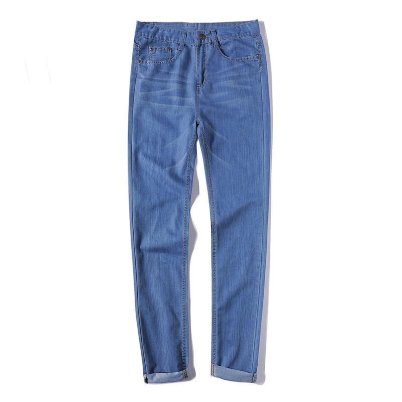 Mens Slim fit Pants Classic Jeans Male Denim Jeans Casual Skinny Straight Elasticity Pants