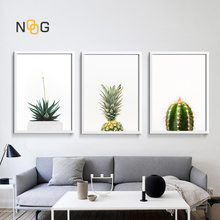 NOOG Poster Cactus Pineapple Plants Leaves Wall Art Canvas Painting Nordic Posters And Prints Pictures For Living Room