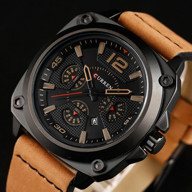 Curren Часы 2017 мужские часы лучший бренд класса люкс relogio masculino curren Кварцевые Наручные Часы 8260
