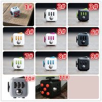 11 Colors Fidget Cube 6cm Focus Pay Attention Toys 1851 Action Figure Brinquedo Toy Kids Christmas