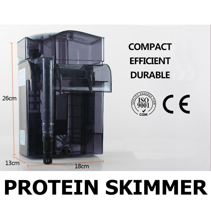 Aquarium Wall hanging Protein Skimmer Marine Fish Tank Efficient External Skimmer Filter 220 240V 50Hz 6