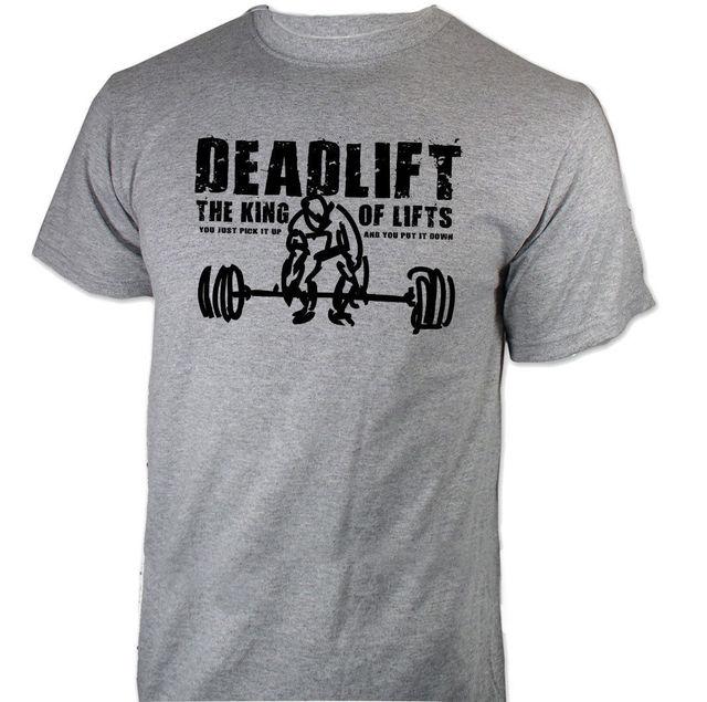f1c1b5f09 Cool Funny T-Shirt Men High Quality Tees DEADLIFT Strongman Sleeve Shirts  Fashion Short Sleeve T-Shirt Tops