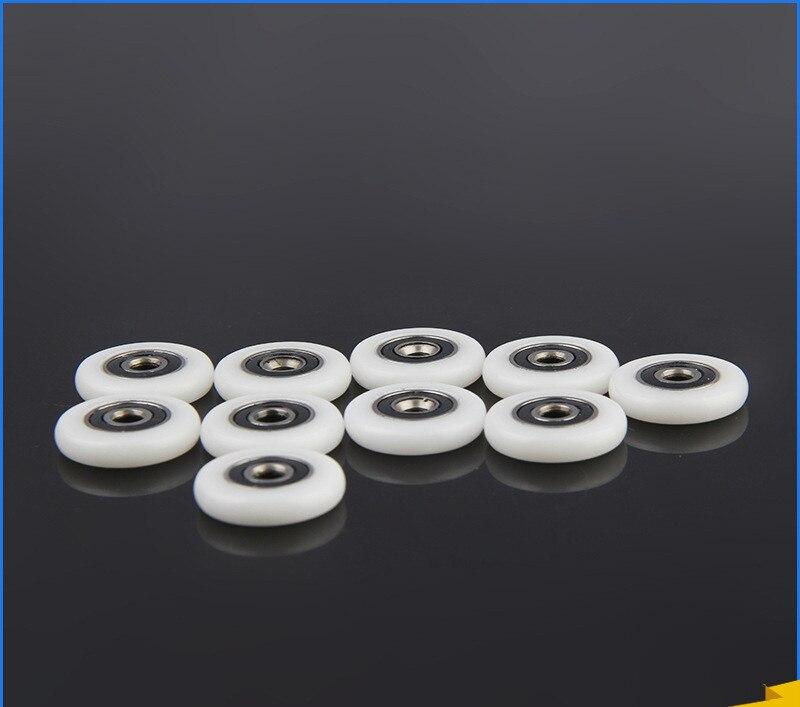 8pcs Shower Door Rollers/Runners/Spares 19/20/23/24/25/26/27mm Wheels Diameter, 5mm Hole
