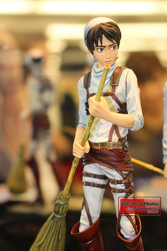Japanese anime figure Attack On Titan Eren Jaeger action figure collectible model toys for boys 25cm levi ackerman rivaille li weier soldiers attack on titan trunk standing battle edition pvc action figure model toys