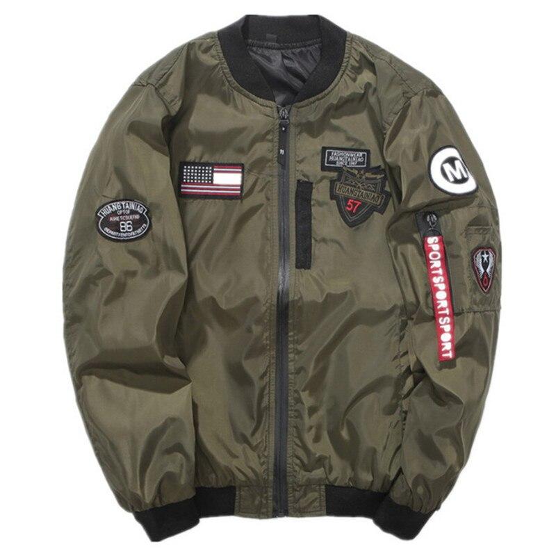 Spring Autumn Men Bomber Jacket Coat Ma1 Army Green