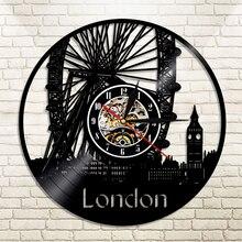 e69c6be38 1 قطعة لندن ساعة حائط كبيرة بن دُولابٌ دَوّار جدار ديكور لندن جسر انكلترا  سيتي سكيب