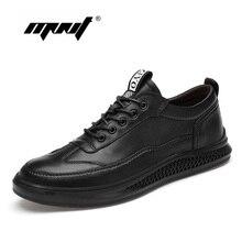 Plus Size Outdoor Men Shoes Lace Up Flats Shoes Men Footwear Comfortable Quality Genuine Leather Men Sneakers недорого