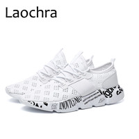 LAOCHRA 2018 New Arrival Men Huarache Style Sneakers Letter Designer Fashion Flats Summer Breathable Mesh Classic