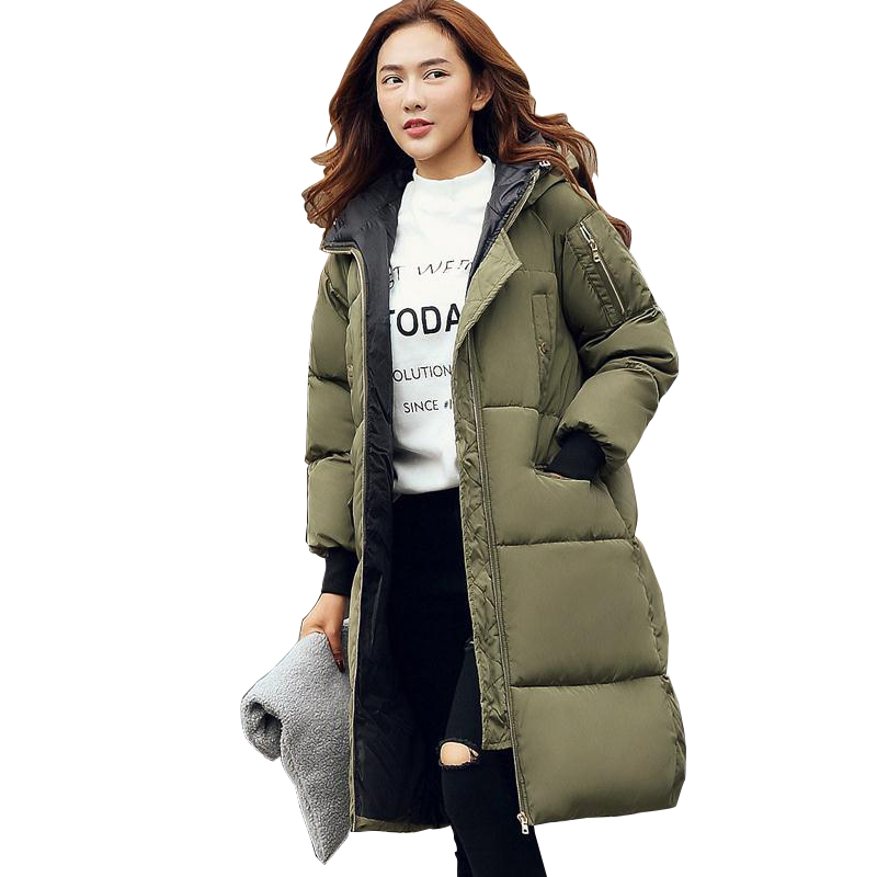 2017 New Very Thick Warm Womens Coats And Jackets Winter Armygreen ...