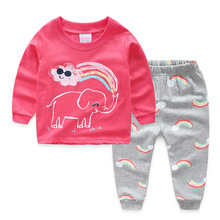 Toddler Kid Baby Girl Clothes Printed T-shirt+Pants Suit Kids christmas pajamas Outfit clothes costume children clothes