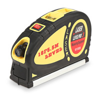 Multipurpose Laser Level Measuring 5.5m Standard And Metric Tape Ruler Tool Portable LR44 Battery Charging Tape Measures