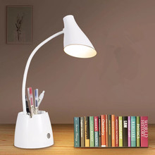 HAWBOIRRY LED touch on/off switch 3 mode mobile phone bracket desk lamp eye dimming rechargeable USB pen holder