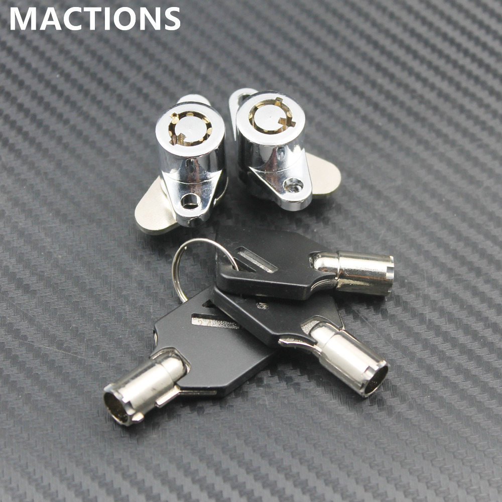 Motorcycle Accessories Hard Saddlebag Lock Key Set For Harley Road King Glide Touring Model Saddle Bags