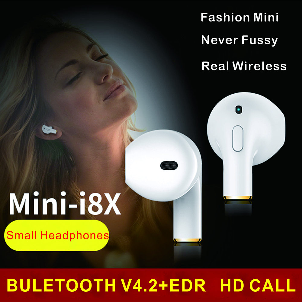Mini i8x Bluetooth Headse Music Earbud Wireless Sport Earphone Handsfree With Microphone For iPhone Samsung huawei xiaomi