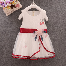 2019 summer model small and medium-sized child baby dress girl pure cotton princess retail