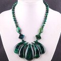 "Free Shipping Fashion Jewelry Azurite Necklace 20"" 1Pcs E215"