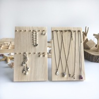 Solid Wood Hang up Jewelry Display Holder Necklace Chain Bracelets Display Stand Jewelry Storage