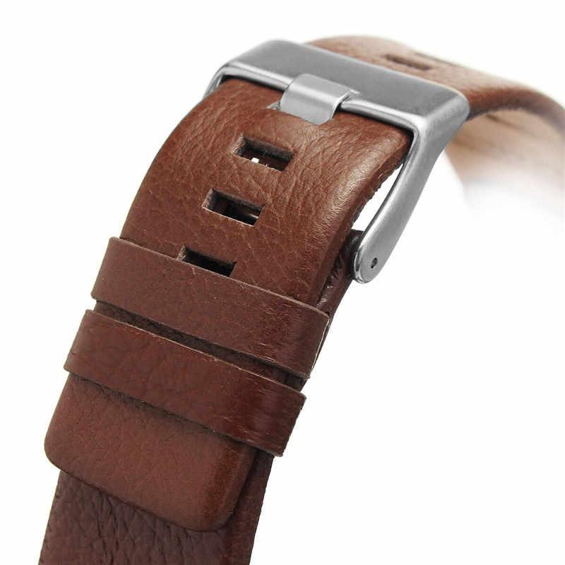 22/24/26/28mm correa de reloj de repuesto de cuero genuino pulsera hebilla de Metal para/ accesorios para reloj diésel DZ4210