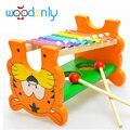 Toys para niños instrumento musical de madera del serinette golpear toys toys bebé niños educativos de madera del juego de billar
