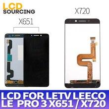 """5.5 """"สำหรับLetv LeEco Le Pro 3 LCD X651 X650 จอแสดงผลสำหรับLe Pro 3 จอแสดงผลLCD x720 เปลี่ยนDigitizer ASSEMBLY X727"""
