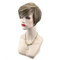 2017 Women S Wig Women Short Light Yellow Front Curly Hairstyle Synthetic Hair Wigs For Brown