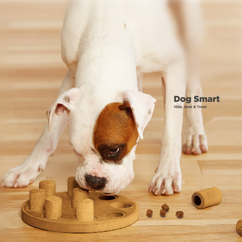 Dog Smart Hide & Seek Treat Toy Pet Dog Puppy High IQ Development Training Interactive Game Toy Educational Food Feeder Toys