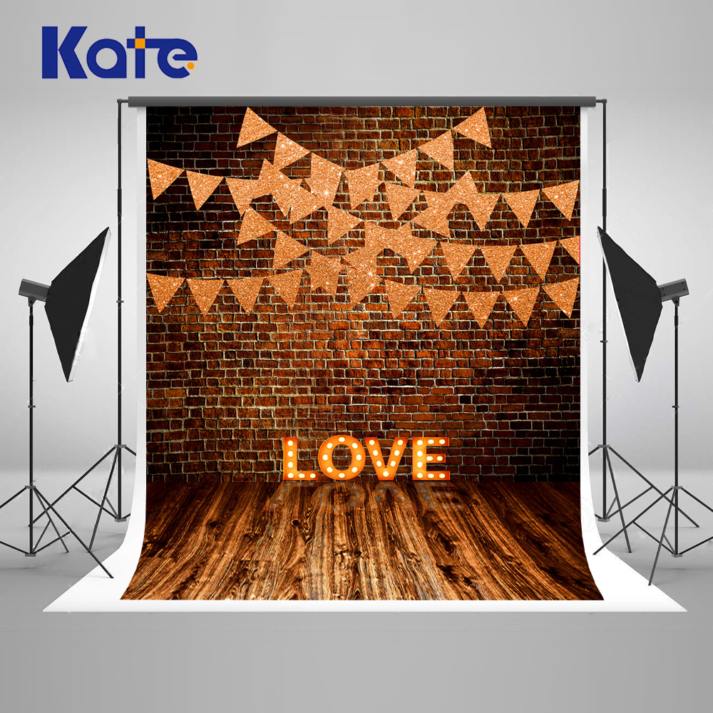 Kate Wedding Brick Wall Photography Backdrops Valentines Day Love Backgrounds for Photo Studio Backgrounds Photography Wood photography backdrops bright yellow wood wood brick wall backgrounds for photo studio