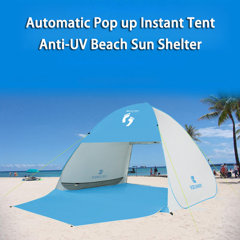 Instant Pop up Cabana Beach Tent 2 4 Person Camping Fishing Hiking Picnic Anti UV Beach