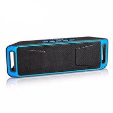 Fm 라디오와 휴대용 스피커 사운드 박스 음악 플레이어 서브 우퍼 전화 블루투스 스피커 무선 시스템과 마이크