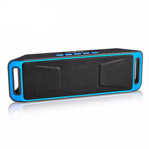 Image 1 - portable speaker with fm radio soundbox music player subwoofer phone bluetooth speaker wireless system with microphone