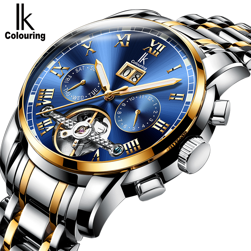 2017 Fashion Men's 6 hands Day/Week/Month Display Mechanical Auto Watch Wristwatch Gift Box Free Ship reloj hombre jaragar fashion watch mens moonphase flywheel auto mechanical stell wristwatch gift box free ship