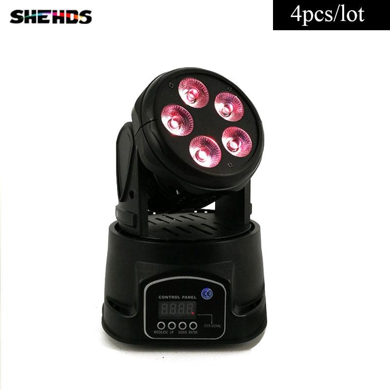 4 pcs/lot LED Mini Moving Head 5x18W RGBWA+UV Light Good for Disco Moving Head Lighting Uplighting4 pcs/lot LED Mini Moving Head 5x18W RGBWA+UV Light Good for Disco Moving Head Lighting Uplighting