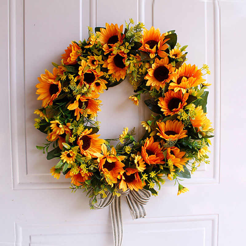 Artificial Flowers Wreaths Silk Wearth Door Wall Hanging Artificial Garland For Wedding Home Party wedding Decoration