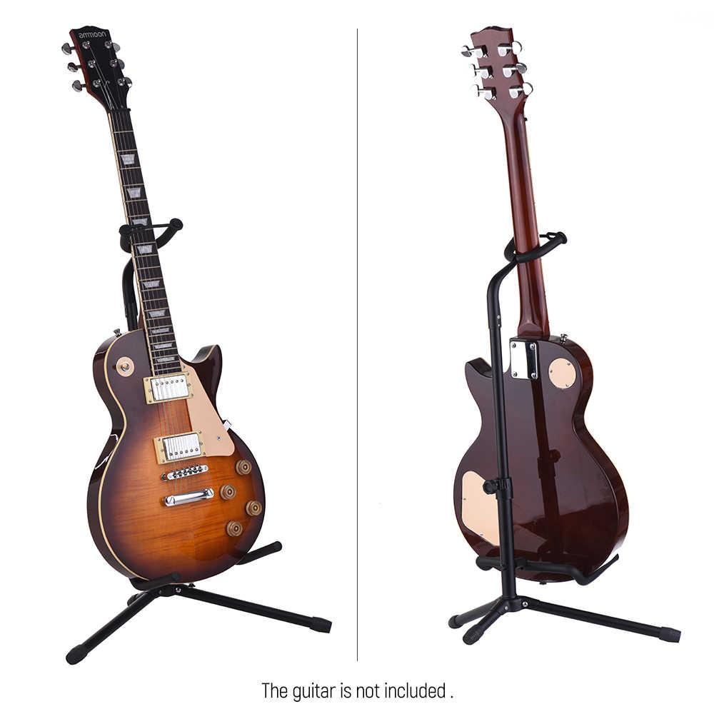 الغيتار الطابق حامل معدني الغيتار الوقوف الموسيقية أداة الحامل ثلاثي الأرجل ل الصوتية الكهربائية الغيتار باس