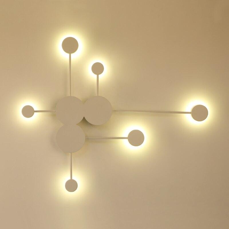 Black/Gold/White Modern LED Wall Lamps For Living Room Bedroom Bedside Nordic Decoration Designer Corridor Hotel Wall Lights