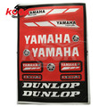 combination motorcycle sticker for yamaha logo universal motorbike stickers for dunlop decal dirt pit bike scooter moto part red