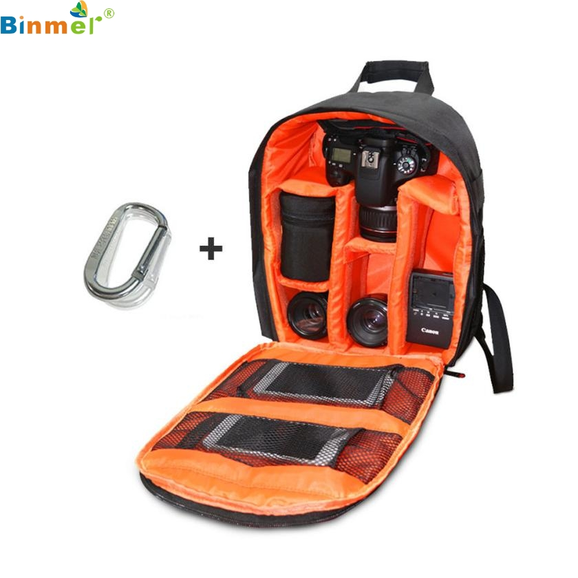DATA Best Price ! Camera Bag Backpack Waterproof DSLR Case with Carabiner for Canon top quality fe10