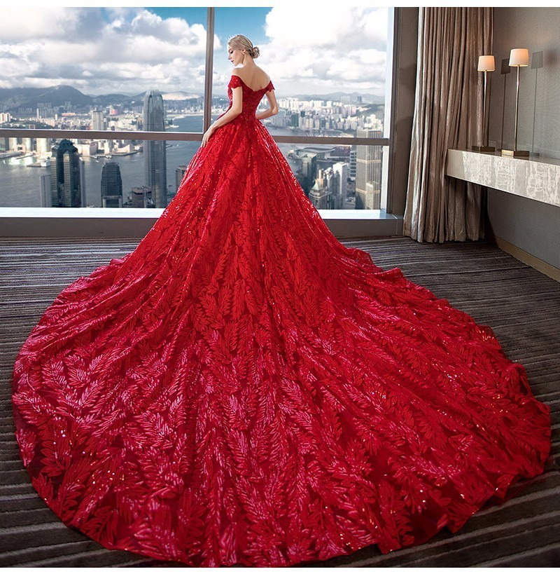2019 Vestido De Noiva Vintage Off the Shoulder Lace Sequins   Prom     Dresses   Women New Wine Red Evening Formal Gowns robe de soriee