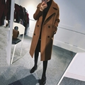 Women's 2017 New Wool Coat Trenches Blends Cashmere Long design Autumn Winter High Quality Lady Overcoat Spring