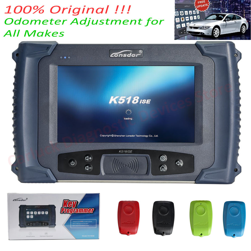 For Lifetime!! Original Lonsdor K518ISE Key Programmer With Odometer Correction Function Supports All Cars No Need Token Of K518